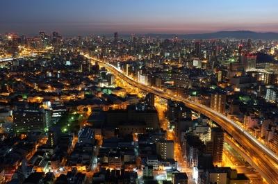 soku_23227.jpg :: 風景 街並み 都市の風景 夜景 大阪