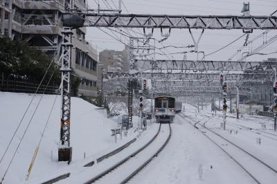 soku_23809.jpg :: 乗り物 交通 鉄道 電車 雪景色