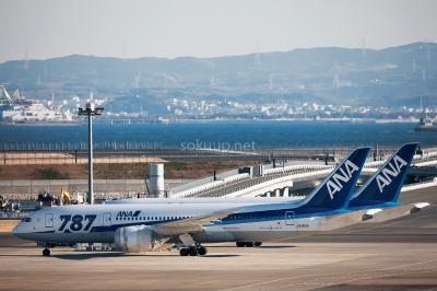soku_24069.jpg :: 乗り物 交通 航空機 飛行機 ANA 787