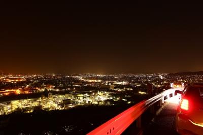 soku_24383.jpg :: 風景 街並み 郊外の風景 夜景 乗り物 交通 自動車