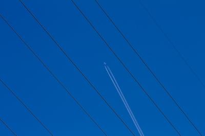 soku_24631.jpg :: 風景 自然 空 飛行機雲