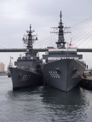 soku_25577.jpg :: 練習艦隊 大阪 天保山 寄港 練習艦しらゆき 練習艦かしま 海上自衛隊