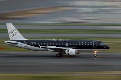 soku_25748.jpg :: 乗り物 交通 航空機 飛行機 旅客機 流し撮り