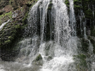 soku_26055.jpg :: PowerShotG15 風景 自然 水分 コンデジ埼玉 lock 滝 白水の滝 ソフトウェアHDR 比較写真