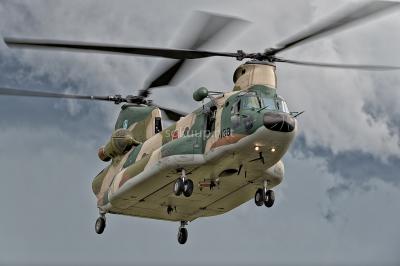 soku_26057.jpg :: 航空自衛隊 乗り物 交通 航空機 ヘリコプター 輸送ヘリコプター CH.47J