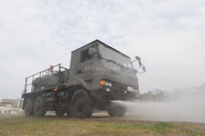 soku_26156.jpg :: 陸上自衛隊 乗り物 交通 自動車 重機 散水車