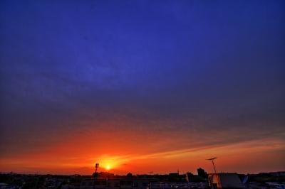 soku_26234.jpg :: 夕焼 夕日 夕暮れ 風景