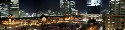 soku_26518.jpg :: 風景 街並み 都市の風景 夜景 東京駅
