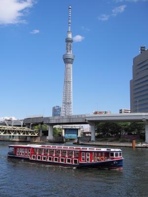 soku_26522.jpg :: 建築 建造物 塔 タワー 東京スカイツリー 水上バス
