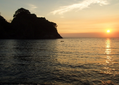 soku_26699.jpg :: 風景 自然 空 夕日 夕焼け 日没 西伊豆 浮島