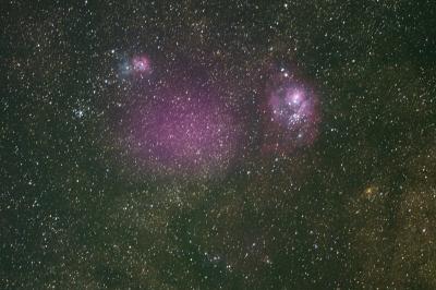 soku_26727.jpg :: 風景 自然 天体 星雲 干潟星雲 三裂星雲