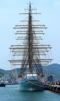 soku_26774.jpg :: 乗り物 交通 船 ヨット 帆船日本丸