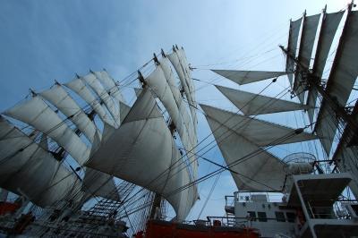 soku_26775.jpg :: 乗り物 交通 船 ヨット 帆船日本丸