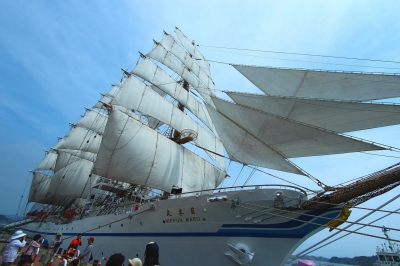 soku_26776.jpg :: 乗り物 交通 船 ヨット 帆船日本丸