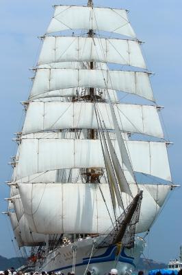 soku_26777.jpg :: 乗り物 交通 船 ヨット 帆船日本丸