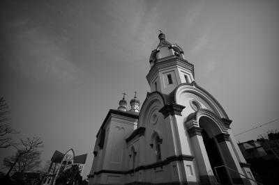 soku_26800.jpg :: 建築 建造物 教会 モノクロ