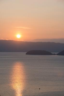 soku_27338.jpg :: 風景 自然 空 夕日 夕焼け 日没