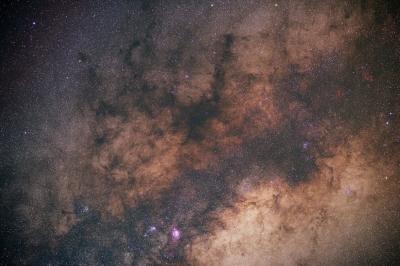 soku_27396.jpg :: 風景 自然 天体 星空 天の川 干潟星雲の南側