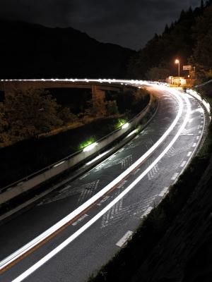 soku_27801.jpg :: PowerShotG15 コンデジ埼玉 lock 乗り物 交通 道路 坂道 夜景