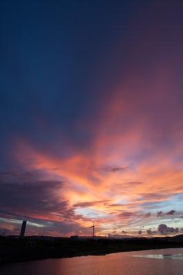 soku_27822.jpg :: 風景 自然 空 夕日 夕焼け 日没