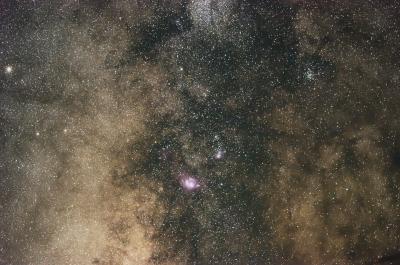 soku_27851.jpg :: 風景 自然 天体 星雲 星野 天の川 グレートスタークラウド 干潟星雲 三裂星雲