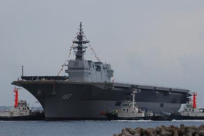 soku_27955.jpg :: 祝 海上自衛隊 護衛艦 ヘリ空母 進水式 IHIマリン DDH.183 いずも izumo