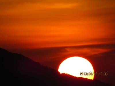soku_28144.jpg :: 風景 自然 空 夕日 夕焼け 日没