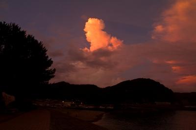 soku_28239.jpg :: 風景 自然 空 雲 夕日 夕焼け 日没
