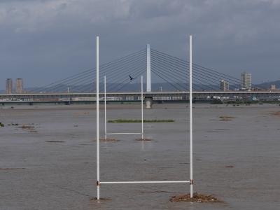 soku_28530.jpg :: 風景 自然 川 河川 河川敷 氾濫 泥水