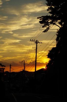 soku_28589.jpg :: 風景 自然 空 夕日 夕焼け 日没