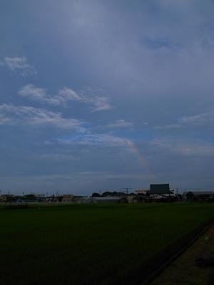 soku_28610.jpg :: 風景 街並み 郊外の風景 田園 虹