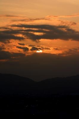 soku_28623.jpg :: 風景 自然 空 夕日 夕焼け 日没