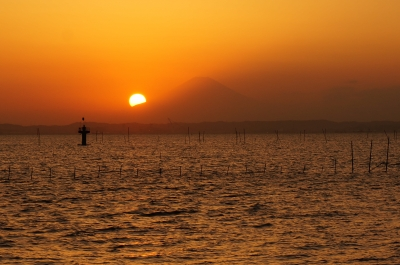 soku_28908.jpg :: 風景 自然 空 夕日 夕焼け 日没
