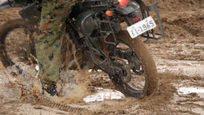 soku_29054.jpg :: 陸上自衛隊 乗り物 交通 自動車 オートバイ バイク