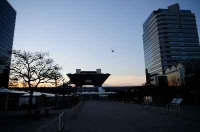 soku_29433.jpg :: 東京国際展示場 風景 街並み 都市の風景 飛行機