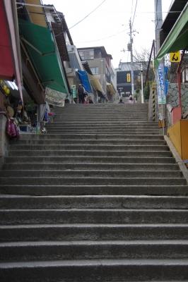 soku_29442.jpg :: 風景 街並み 都市の風景 路地裏 階段