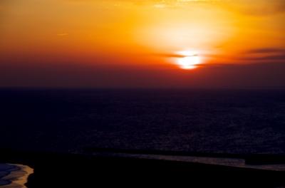 soku_29611.jpg :: 風景 自然 空 夕焼け 海