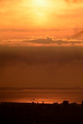 soku_29672.jpg :: 風景 自然 空 朝焼け 烏帽子岩 えぼし