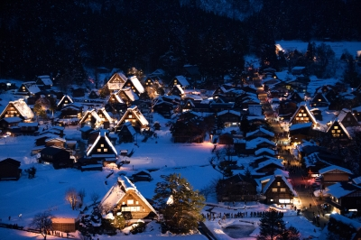 soku_29691.jpg :: 雪景色 世界遺産 白川郷 五箇山 合掌造りの集落