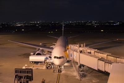 soku_29808.jpg :: 伊丹空港 ジェット機 旅客機 夜景