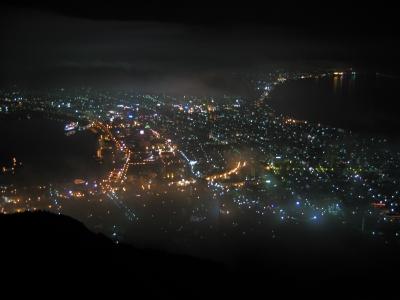 soku_29942.jpg :: 風景 街並み 郊外の風景 夜景 函館