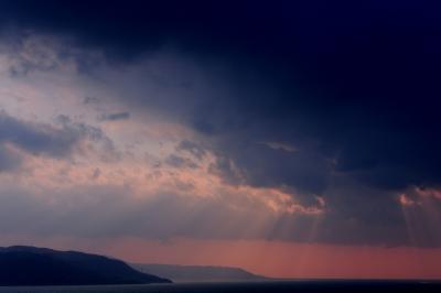 soku_30081.jpg :: 風景 自然 空 夕日 光