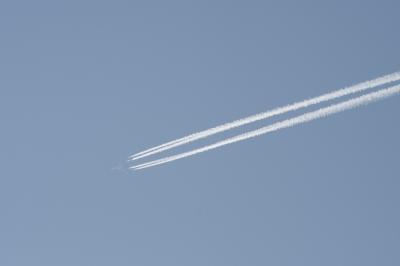 soku_30099.jpg :: 乗り物 交通 航空機 飛行機 旅客機 飛行機雲