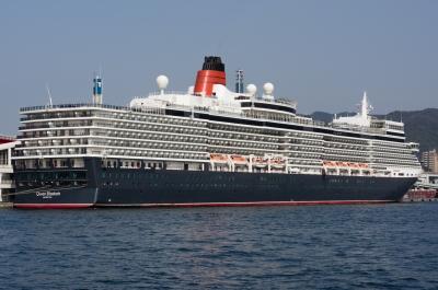 soku_30160.jpg :: 乗り物 交通 船 客船 QEⅡ 神戸港