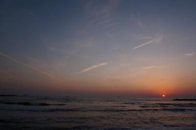 soku_30658.jpg :: 風景 自然 海 ビーチ 砂浜 夕日