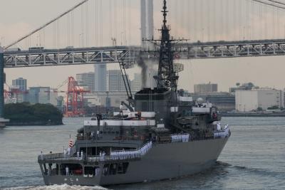 soku_30766.jpg :: TV.3508 かしま Kashima 海上自衛隊 東京港 晴海埠頭 練習艦隊 メラメラ