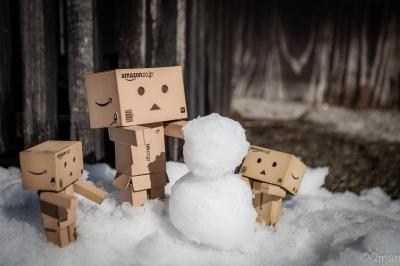 soku_30804.jpg :: 雪景色 街並み ダンボー 風景 雪だるま