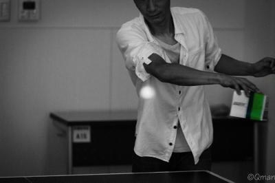 soku_30911.jpg :: 人物 男性 若い男性 スポーツ キムワイプ キムワイプ卓球 キム卓