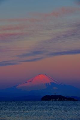 soku_31027.jpg :: 風景 自然 山 富士山 空 朝焼け