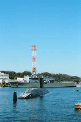 soku_31229.jpg :: 乗り物 交通 船 潜水艦 海上自衛隊 横須賀 田浦港 廃棄潜水艦